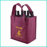OEMのカスタムロゴの印刷ショッピングのための再生利用できるPPのNon-Wovenの非編まれたハンドバッグのFoldable昇進の戦闘状況表示板のワイン袋