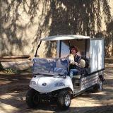 Chariot dinant électrique de 2 Seate en stationnement