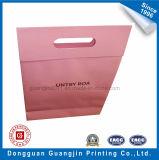 Saco de empacotamento para presente de papel Kraft impresso em cor rosa com ímã