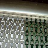 Het decoratieve Blinde Gordijn van de Deur van de Link van het Metaal van de Strook van de Ketting van het Aluminium