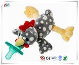Diseño personalizado de rocas blandas chupete Plsuh Pollo Toy