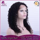 중간 꼬부라진 중국 Virgin 머리 가득 차있는 레이스 가발