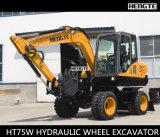 Nuovo escavatore idraulico della rotella di Ht75W