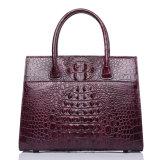 여자를 위한 최상 주문을 받아서 만들어진 디자인 적포도주 실제적인 악어 가죽 끈달린 가방