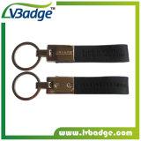 Kundenspezifischer PU-lederner Auto-Schlüsselring mit Auto-Firmenzeichen