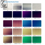 304 PVD Edelstahl-farbige Platten-dekorative Blätter
