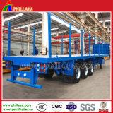 Vervoer van de Lading van de draaischijf trekt Flatbed de Aanhangwagen van de Staaf met ZijPosten