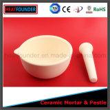 L'alta qualità ha personalizzato il mortaio di ceramica dell'allumina di 99% con il pestello