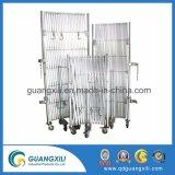 Bens móveis de alumínio empurrador temporária com Rodas