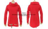 Frauen-Winter Hoodies Schal-Muffen-lange Hülsen-Form-beiläufige Herbst-Sweatshirt-raue Pullover