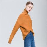 Neue 2018 Dame-Form-koreanische Frauen-Strickjacken, die unregelmäßige Wolle-langen Hülsen-Pullover stricken