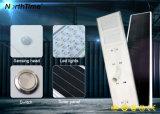 Détecteur DEL actionnée solaire de PIR allumant le réverbère solaire