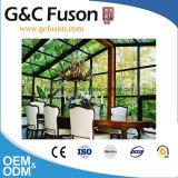 Maakte het Unieke Aluminium van de goede Kwaliteit Gebogen Lowes Glas Sunrooms voor Verkoop aan