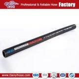 SCHLAUCH-hydraulischer Schlauch der SAE-100 schwarzer Gummiluft-R6