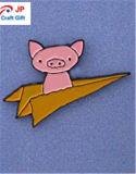 Personalizar la forma de cerdo de alta calidad insignia de solapa para la venta