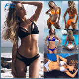 Bikini Set Sexy порванный жгут взять с собой купальник бикини женщин 2018 Твердые купальник летом