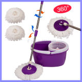 Living Home Clean Tools New Magic Spin Mop Bucket Sem Foot Pedal Girar Ferramentas de limpeza de 360 ​​graus Double Drive Rotary Mop Retroproleira de aço inoxidável retrátil