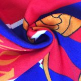 140cmx70cm Reactive Printed Barcelona Football Microfiber Beach Towel