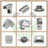 La pared de acero inoxidable Flangle balaustrada / Montaje/montaje de la rampa/tubo conector