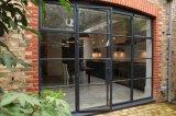 Porte d'entrée Bi-Fold française en acier de porte de garantie faite sur commande avec la glace