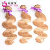 Corps vierge d'onde mongol blonde Hair Extensions de cheveux humains non traités