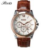 シンプルな設計の卸売の人の偶然の腕時計人のための4個のカラー安い革バンド腕時計