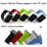 Водоустойчивый вахта телефона запястья руки Bluetooth франтовской с гнездом для платы SIM (A1)