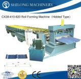 二重層カラー機械を形作る鋼鉄によって艶をかけられる屋根瓦