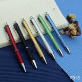 De fijne Plastic Pen van de Kleur van Nomal van de Kwaliteit met Embleem