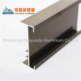 Superficie diferente flexión con ranura en T 6063 Perfil de aluminio de extrusión para la ventana