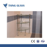 壁のコーナーのための緩和された棚ガラス