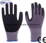 Cinda Waterbased PU Nitrile en micromousse et des gants de sécurité