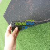 Telha de borracha da fonte da fábrica de China/telha assoalho de pavimentação de borracha de Palyground /Anti-Slip/telha revestimento de borracha da ginástica/borracha Desgastar-Resistente; Telhas de borracha de bloqueio