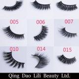 Venda por grosso de falsas Eyelash 100% 3D artesanais Faixa Eyelash seda