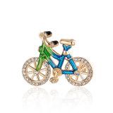 Bicicleta de esmalte chapado en oro rosa Broche de aleación exclusivas OEM