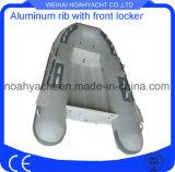 Barca di alluminio della nervatura del guscio del tubo V di Hypalon orca/del PVC