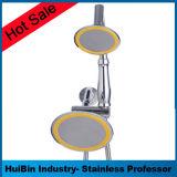 8 Zoll quadratische Wellen-Niederschlag-Strahlen-Dusche-Kopf-/Handkombiniertes mit dem Chrom beendet, enthaltener Super-Flexibler Edelstahl-Dusche-Schlauch, Dreiwegewasser-Ablenker