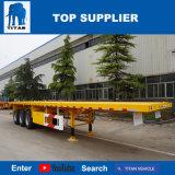 Véhicule de titan - de 40 pi d'essieu remorque triple à plat semi pour le cargo