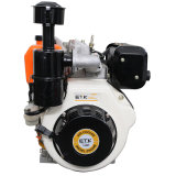 moteur diesel portatif sorti par arbre à cames vertical simple refroidi par air d'injection directe du cylindre 14HP avec le filtre extérieur de Bath de pétrole