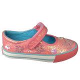Niedriger Preis-Form scherzt beiläufige beige Farben-Raupe-Segeltuch-Schuhe