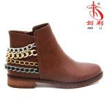 Классицистическая сексуальная зима Boots ботинки женщин с цепным украшением (AB608)