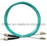 Cavalier recto de fibre de LC-LC Om3