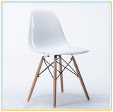 Mobiliário de sala de estar clássico cadeira de designer de madeira de plástico