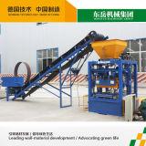 Semiautomáticos fábrica de tijolos ocos de concreto o Qt4-24