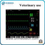 Portable seis parâmetros do monitor de paciente para animais