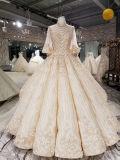 Aoliweiya bräutlicher spätester Entwurfs-goldenes Hülsen-Hochzeits-Kleid