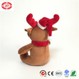 Belle Brown Moose Nez rouge typique de jouet en peluche de Noël des enfants