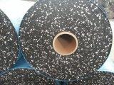 6 mm preto com vermelho faíscas piso de ginásio de Borracha