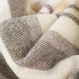編まれた毛織のオーストラリアのMerinoウール毛布かホテル毛布