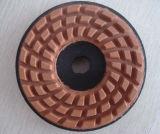 100mm 다이아몬드 달팽이 수지 패드 또는 닦는 패드 또는 지면 패드